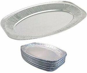 Einweg-Gastronomie-Portion-Party-ALU-Folie-Servierplatte-27-9cm-Packung-mit-30
