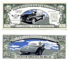 CORVETTE 1961 BILLET MILLION DOLLARS US! Collection Voiture Car Chevrolet 61 USA