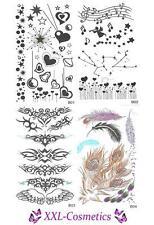 4 x Set Body Tattoos Temporary Tattoo Herzchen / Engel / Feder / Tribal T-Set-B