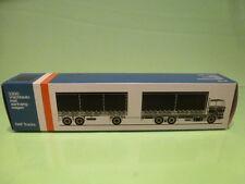 LION CAR 74 DAF TRUCKS 3300 TRUCK + TRAILER - 1:50 GOOD - * ONLY EMPTY BOX * (4)