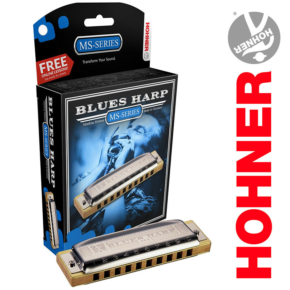 Hohner Blaus Harp MS-Series 532BX-D Key of D Harmonica Made In Germany