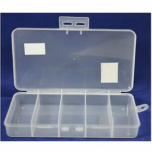 HAWK TJ8705 - Storage Box 5 Compartment Bead - Craft - Small Parts - Fishing New