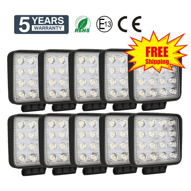 10x LED Worklight 48W projecteur de travail 12V 24V Offroad 4WD SUV phare feux