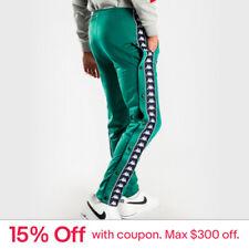 Kappa 222 Banda Astoria Slim Track Pants In Green Blue Mens Pants & Chinos