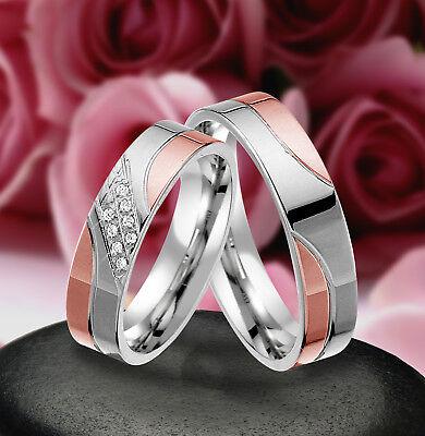 Geschickt 2 Echt Silber 925 Trauringe Eheringe Verlobungsringe , Gravur Gratis , J335-rw Ausgereifte Technologien