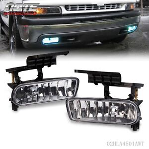 For-00-06-Chevy-Suburban-Tahoe-Clear-Bumper-Fog-Lights-Driving-Lamps