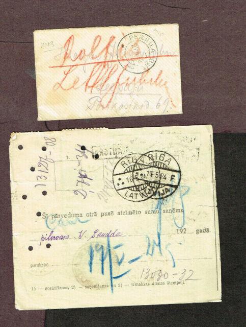 LATVIA postal history     (MOV2,4