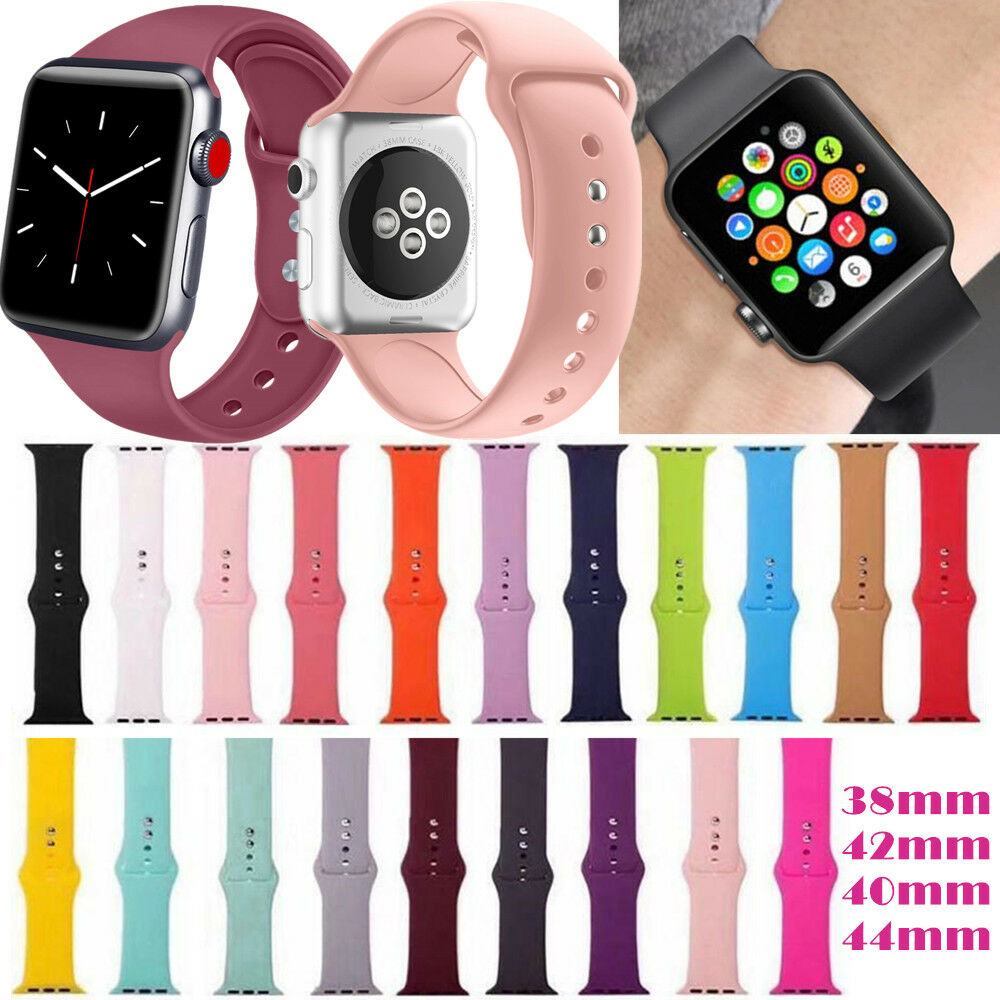 iwatch: For Apple Watch Iwatch Silicone Band Smart Watch Wrist Replacement Straps Series