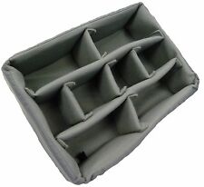 Padded divider set for Pelican 1400. Grey dividers and lid foam.