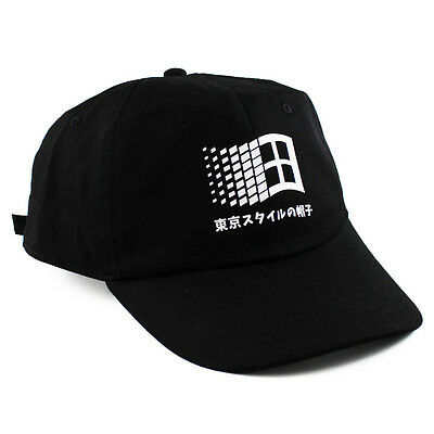 Windows 95 Japanese 6 panel cap strapback polo hat 6 sad boys yung lean win NEW