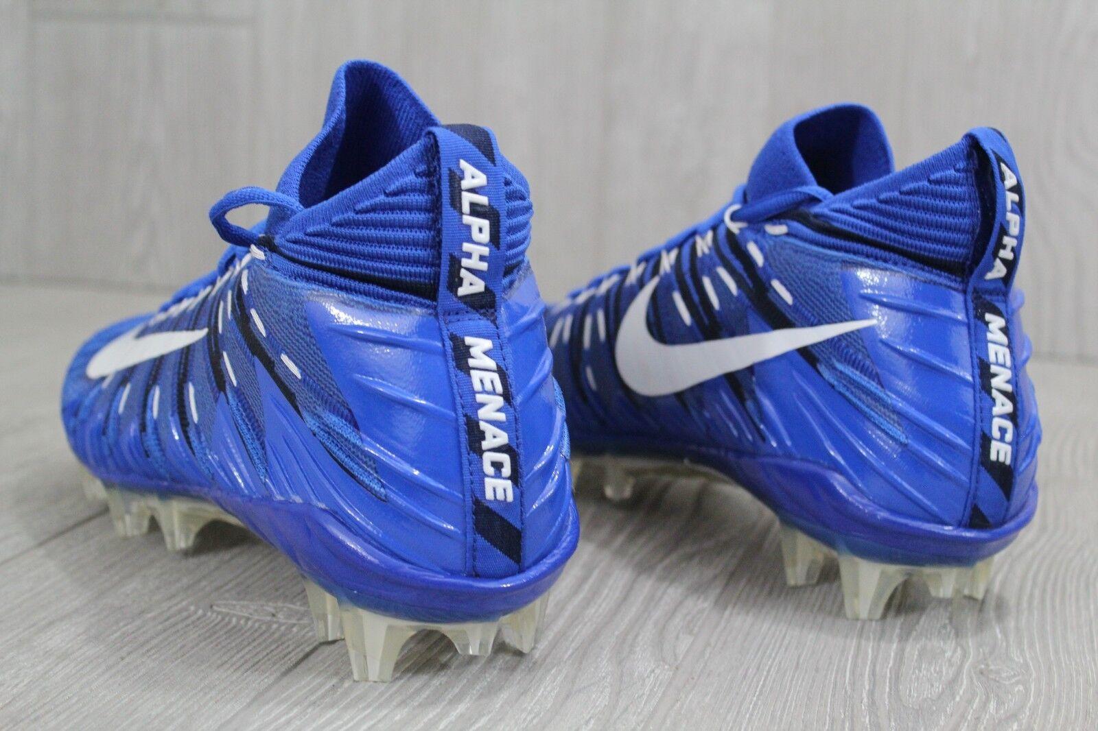 30 nuove nike alfa minaccia minaccia minaccia elite football scarpette spuntoni blu - bianco 871519-414 9 - 13 | Uscita  e3ca69