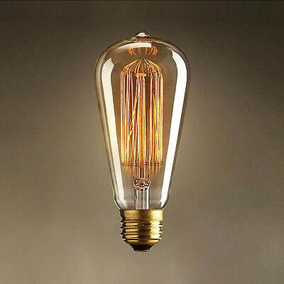 40W Pendant Filament Light Bulb Vintage Retro Industrial Edison Lamps Droplight
