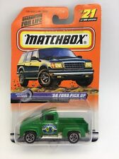 """(AE) Matchbox #21 Green '56 Ford Pick Up """"Fresh Produce Delivery"""""""