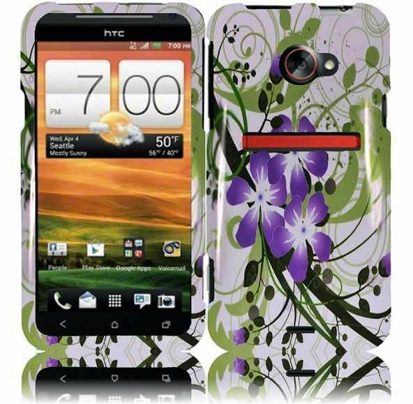 For HTC EVO 4G LTE HARD Protector Case Snap On Phone Cover Green Lily