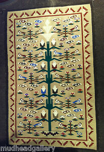 Image is loading NAVAJO-RUG-TREE-Of-LIFE-CLEO-DAVIS