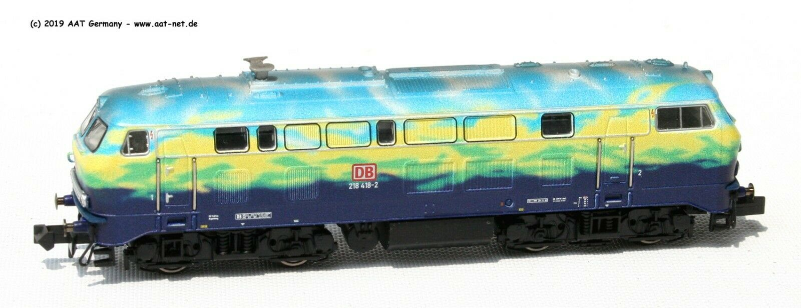 Minitrix N 16285  Locomotore Diesel Br 218 418 DB Ag Ep. V  Digitale nuovo e