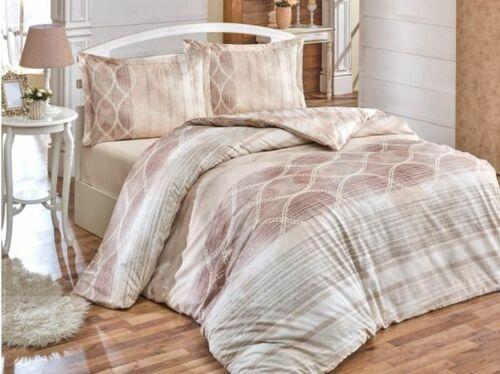 Bettwäsche 200x220 cm Bettgarnitur Bettbezug Baumwolle Biber 4 tlg ÖZDILEK NEU