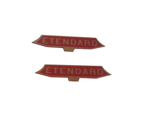 NEUF Lot de deux plaques peintes TEE ETENDARD Echelle HO