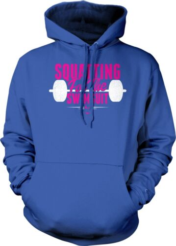 Squating For The Swimsuit Bikini Workout Exercise Weight Lifting Hoodie Pullover