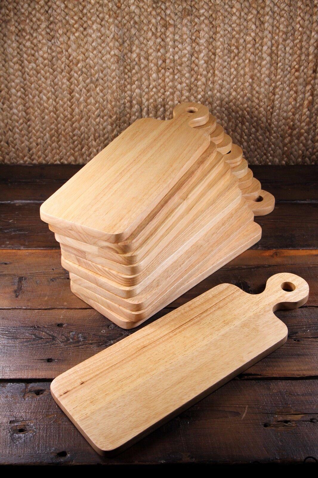 10 X en bois rectangulaire fromage Board Paddle Solide Bois Cuisine Essentials