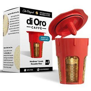 DI-ORO-24K-GOLD-Reusable-K-Carafe-Filter-for-Keurig-2-0-4-5-Cup-Carafe-Filter
