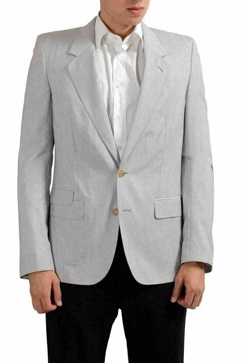 Maison Martin Margiela Men's Striped 100% Wool Sport Coat Blazer US 38 IT 48
