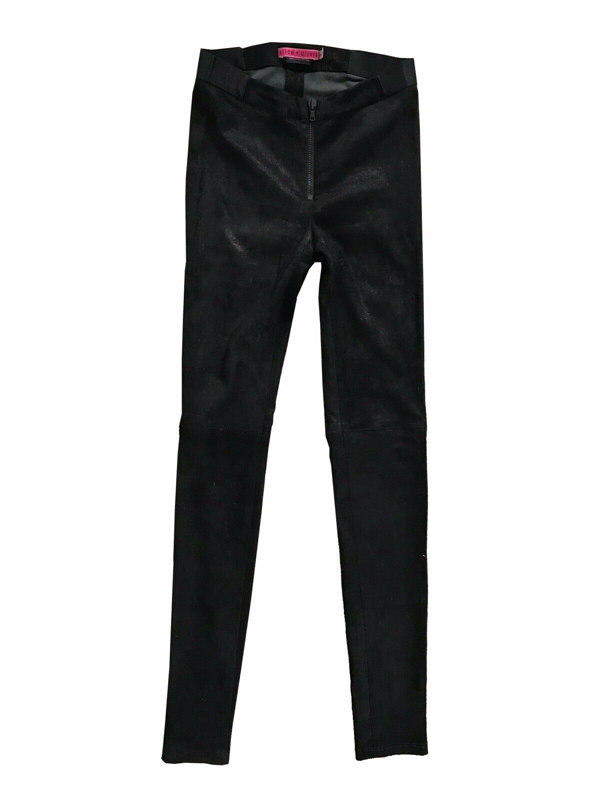 Alice olivia Leather Suede Stretch Leggining Pants 0, 24, 25