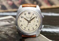 USSR Vintage White Signal Poljot Flight Alarm Russian Soviet Men's Watch strap