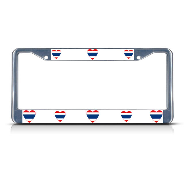 I LOVE MY PIT BULL DOG PAWS Metal License Plate Frame Tag Holder
