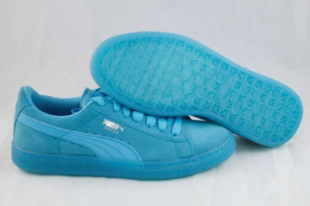 hot sale online 951b1 2c2f6 PUMA Unisex Classic Iced Jr SNEAKERS Kids Size 5.5 Blue Atoll Suede 357586  04