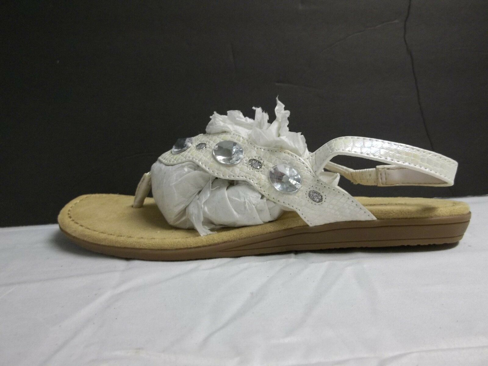 Style & Co Size White 6 M  Bancha White Size Flip Flops Sandals New Womens Shoes NWOB 763c24