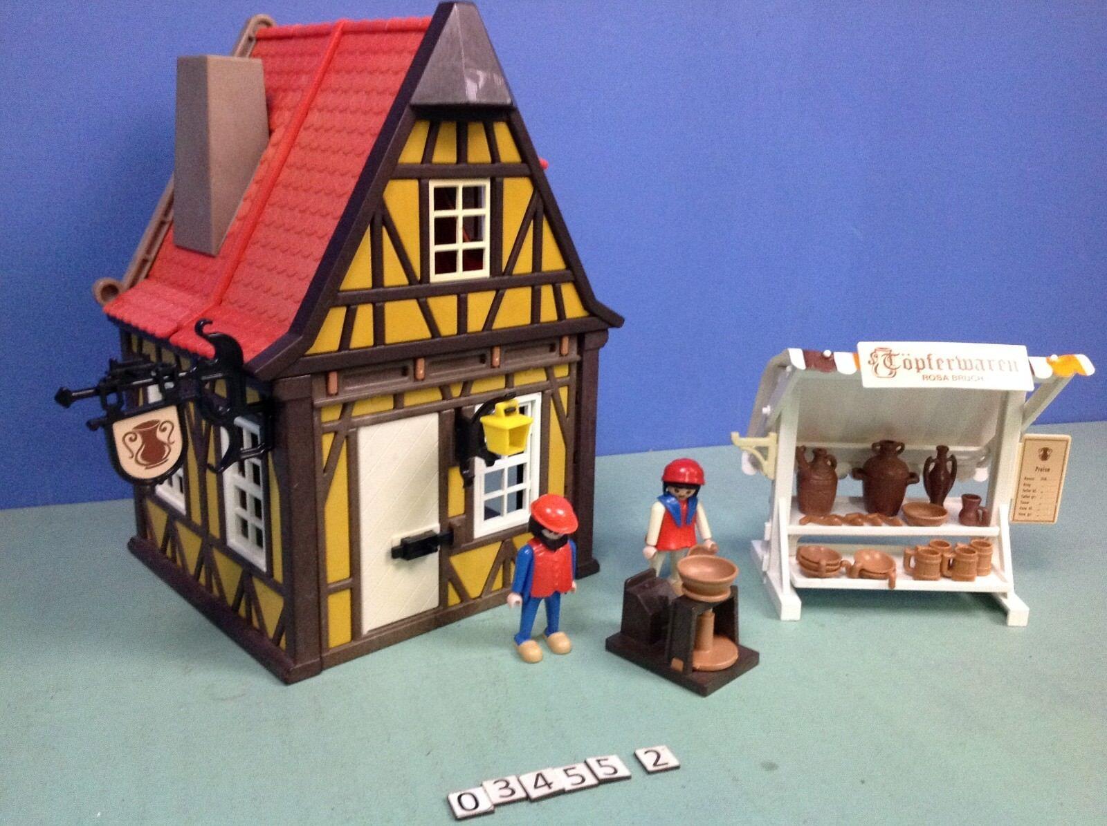 (O3455.2) playmobil Le potier  médiéval ref 3455 année 82 - 93 cplt  offerta speciale