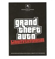 Grand Theft Auto Liberty City Stories Postcard Rockstar Games Gta Rare Promo