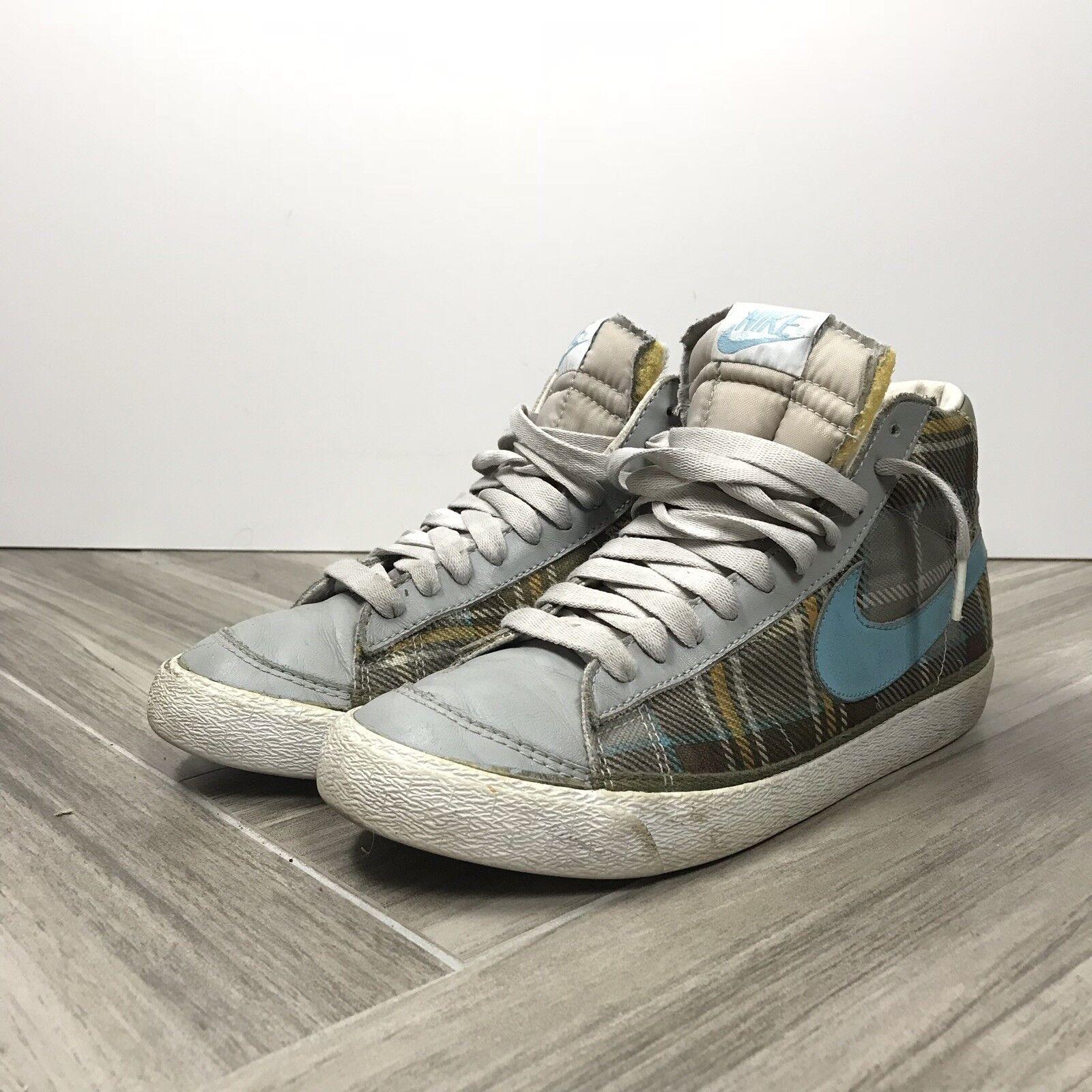 Nike Marronee blu controllare controllare controllare scozzese scarpe da ginnastica alte le donne noi 8,5, uk6, eu40 | Elegante E Robusto Pacchetto  | Uomini/Donne Scarpa  a46e00