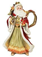 Fitz And Floyd Damask Holiday Santa Serving Pitcher Christmas Gifts Robe