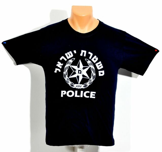 Israel Police T-shirts High Quality 100% Cotton.