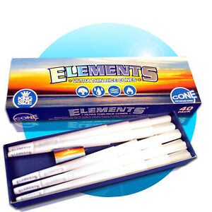 40-x-Elements-Kingsize-Paper-Pre-Rolled-Cones-vorgerollt-Smoking-Papers-109-cm