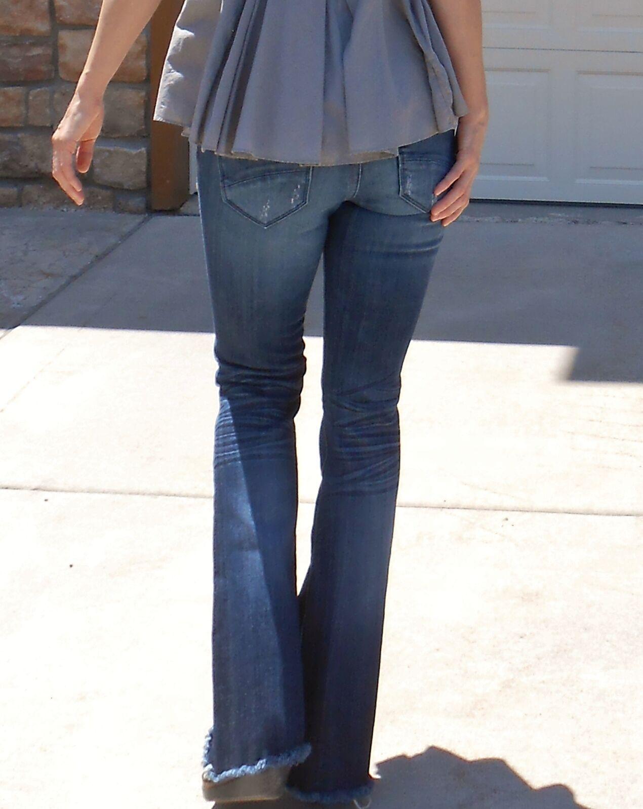 Sundance Catalog flare jeans w fringe hem by Driftwood (Eva Boho Jean), 24