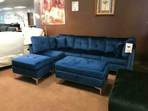 Fabric Sectional + Storage Ottoman ONLY $999!! @ Richi Collection Edmonton Area Preview