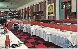 Postcard-NY-Danny-039-s-Hideaway-Restaurant-New-York-City-Tin-Pan-Alley-VTG-Chrome