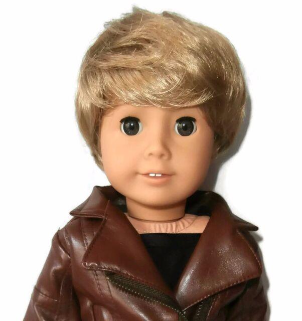 """Custom Boy Doll Wig 10-11"""" Blonde - Fits Logan"""