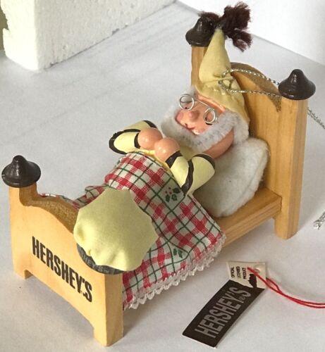 Details about  /❤️Kurt Adler Hershey/'s Collector Series Elf in Sleeping Bed