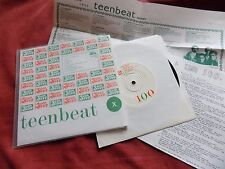 "VARIOUS Teenbeat 100 RARE 7"" USA +INSERTS INDIE EX/EX"