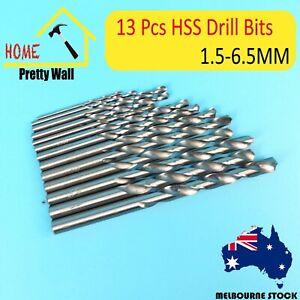 13Pc Drill Bit Set HSS High Speed Steel Metric Case Strong 3.2 3  power tool diy