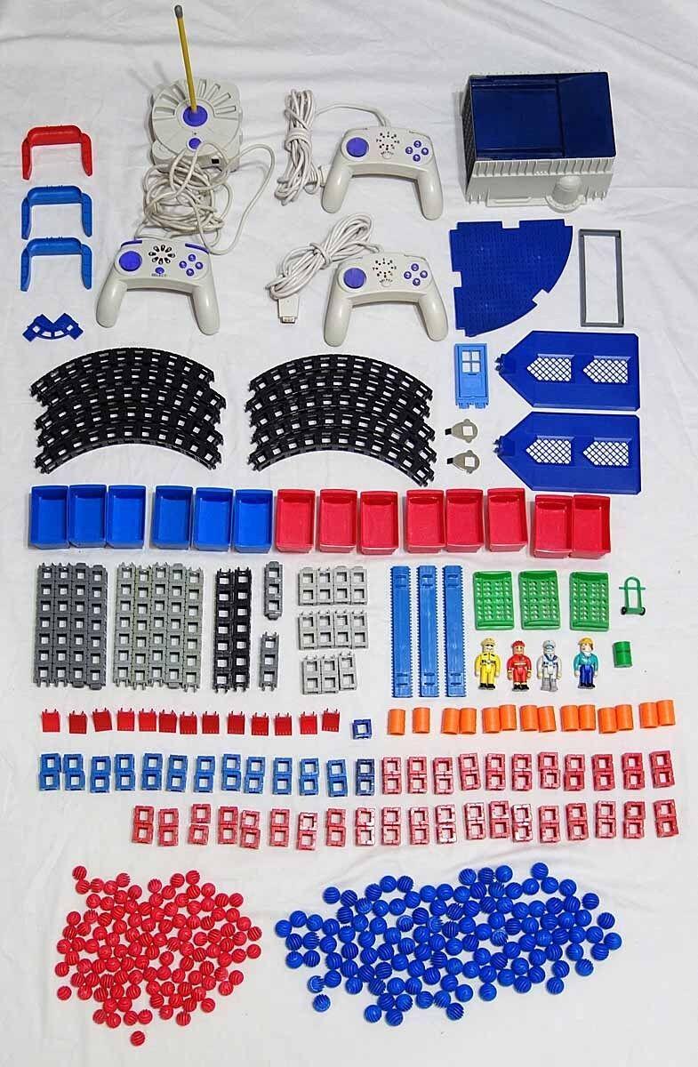 Rokenbok 400+ Parts & Accs Lot - Controllers Figures Barrels Beams Balls & More
