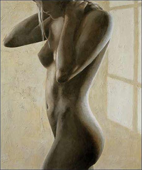 Giorgio Mariani  In Penombra II Keilrahmen-Bild Leinwand Akt Erotik Frau
