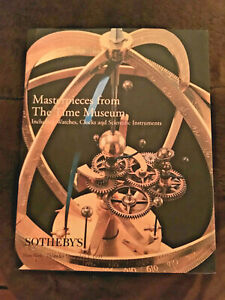 Sotheby S Time Museum Watch Clock Scientific Instruments Auction Catalog 1999 Hc Ebay