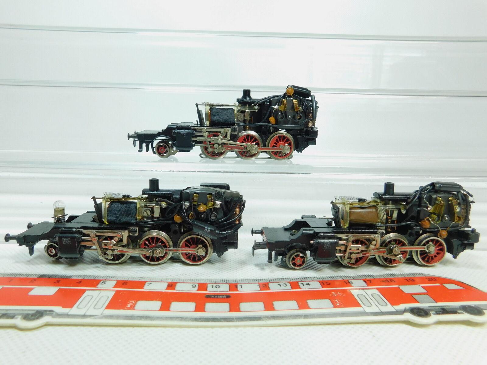 Bo111-2  3x Märklin chasis h0 ac para 3003 locomotora a vapor 24 058 DB