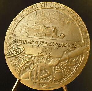 Medal-Levallois-Perret-to-Jean-Pheasant-1933-Narrowboat-in-Edges-Seine-Medal
