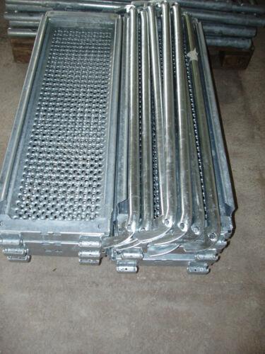 U-Stahlboden 0,73m x 0,32m und 1 Geländer passend für Layher und kompatibel